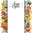 Hand sketched Happy Easter set as Easter logotype vector image