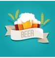 Beer festival event poster menu and background vector image