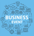 blue line flat circle business event vector image