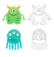 childrens coloring page with funny cartoon vector image