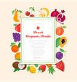 fresh organic fruit - modern colorful vector image