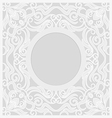 lace background round vignette vector image
