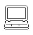 Laptop line icon vector image