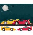 night street racing flat vector image