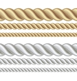 Set of different thickness ropes vector image