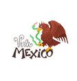 viva mexico with eagle vector image
