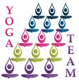 Yoga team icon vector image