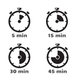 Timer set symbols vector image