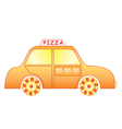 pizza delivery car vector image vector image
