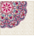 ornate card announcement with circle ornament vector image vector image