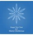 Snowflake symbol like blueprint drawing vector image