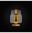 beer bottle boss concept design background vector image