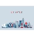 Los Angeles United States City Skyline Flat vector image