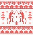 Christmas Knitted background with monkey vector image vector image