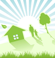 child house and tree vector image