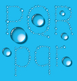 Water Drop Letters On Blue New 06 vector image vector image