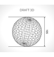 Hand-drawn scribble Sphere Draft architect vector image