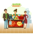 Supermarket Cashier Cartoon vector image