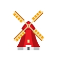 Holandaise Windmill Simplified Icon vector image
