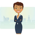 Cute businesswoman vector image