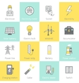 Electricity Icon Flat Line vector image