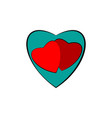 heart around two heart vector image