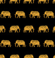 pattern with indian elephants vector image