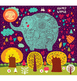Floral Elephant vector image vector image