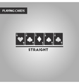 black and white style cards straight vector image