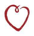 Hand drawn heart symbol1 vector image vector image