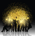 Party people on glitter background vector image vector image