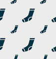 socks icon sign Seamless pattern with geometric vector image