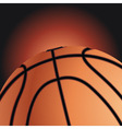 sports background with basket ball vector image vector image