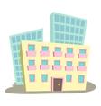 Administrative building icon cartoon style vector image