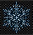 big translucent christmas snowflake vector image vector image