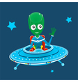 Alien spaceship vector image