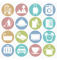 white icons hotel vector image