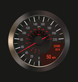 Car Dashboard Speedometer vector image