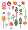 MidCenturyFlowers Icons KaraMarie Preview vector image