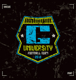 University football team badge vector image