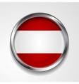 Abstract button with metallic frame Austrian flag vector image vector image