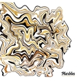 Black white and golden marble style abstract vector image vector image