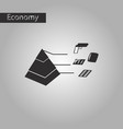 black and white style icon economic pyramid vector image