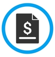 Invoice Page Flat Rounded Icon vector image