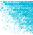 light blue triangular abstract background vector image