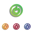 On Off switch sign Colorfull applique icons set vector image