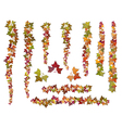 set of brushes autumn ivy vine branches vector image vector image