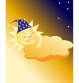 sleeping sun vector image
