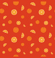 fruits oranges seamless patterns vector image