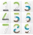 font infographic diagram presentation Numbers 1 2 vector image